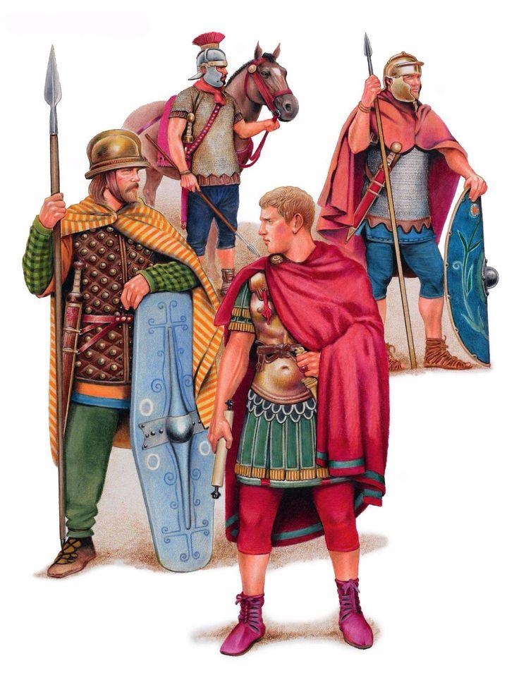 Римские солдаты служащие в Реции, Норике и в Альпах.
