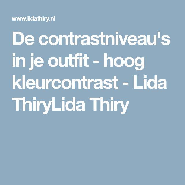 De contrastniveau's in je outfit - hoog kleurcontrast - Lida ThiryLida Thiry