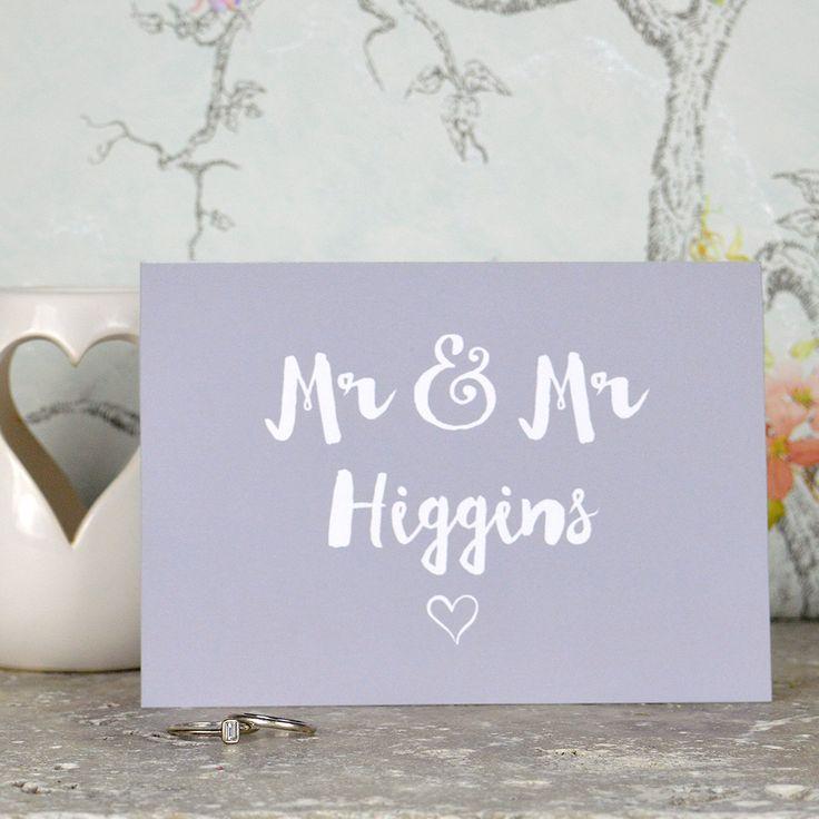 Same Sex Wedding Cards Personalised 14 best