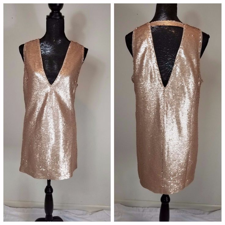 Awesome Awesome Prom Homecoming Drag New Forever 21 Womens Sequin Dress Size Large Blush Size L 2017 2018