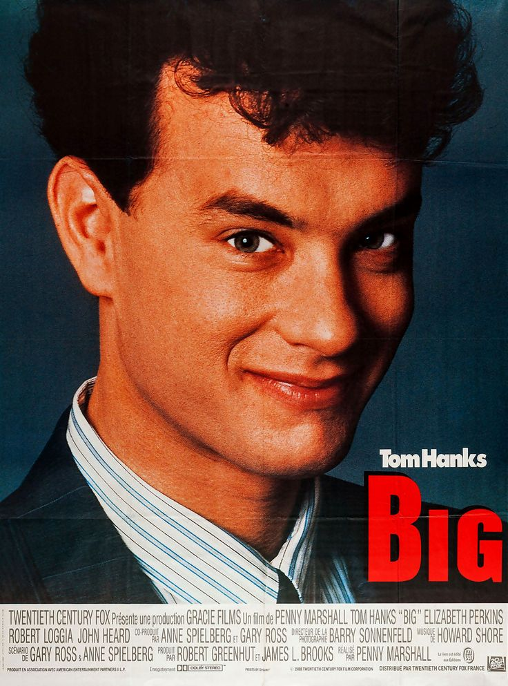 "Big is a 1988 American fantasy comedy film directed by Penny Marshall, and stars Tom Hanks as Josh Baskin, a young boy who makes a wish ""to be big"" and is then aged to adulthood overnight. The film also stars Elizabeth Perkins, John Heard, and Robert Loggia. Big was the latest, and most successful, of a series of age-changing comedies produced in the late 1980s, the others being: Like Father Like Son (1987), 18 Again! (1988), Vice Versa (1988), and the Italian film Da grande (1987)."