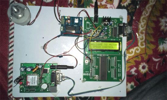 DC Motor Speed Control using GSM