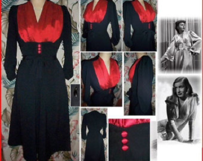 Sexy 1940s Shapely and Feminine Jazz Dress... Straight or Flared... All the Righ... 15