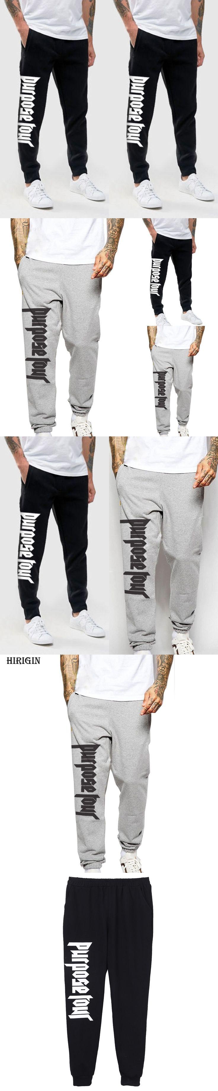 Justin Bieber PURPOSE TOUR Pants Sweatpants Mens Long Baggy Harem Slacks Trousers