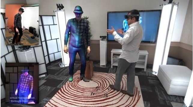 Holoportarea care permite reconstructia, in timp real si oriunde in lume, a unor modele 3D