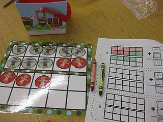 Common Core Math Centers: Center Ideas, Numbers Addition, Math Center, Ten Frames, Frames Addition, Common Cores, Addition Games, Gingerbread Math, Snowman Door