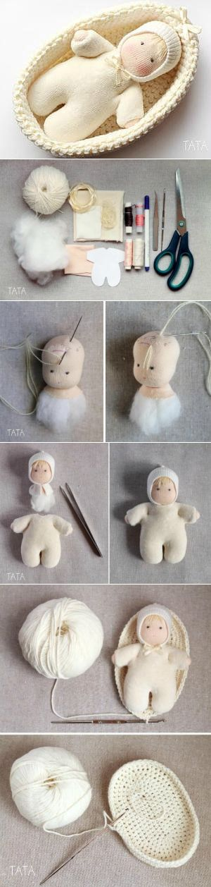 Лялечка в колыбельке. Мастер-класс