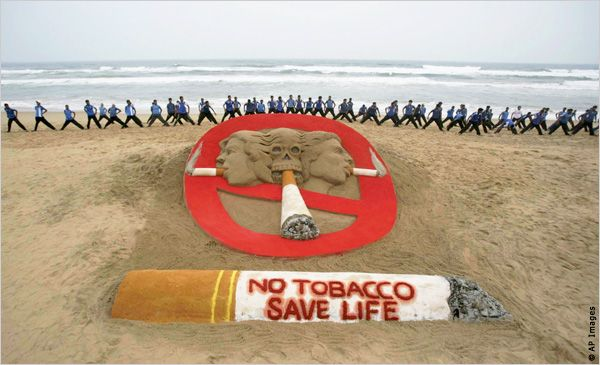 This is positive media because it is warning you that smoking tobacco can be bad for your health - Keith