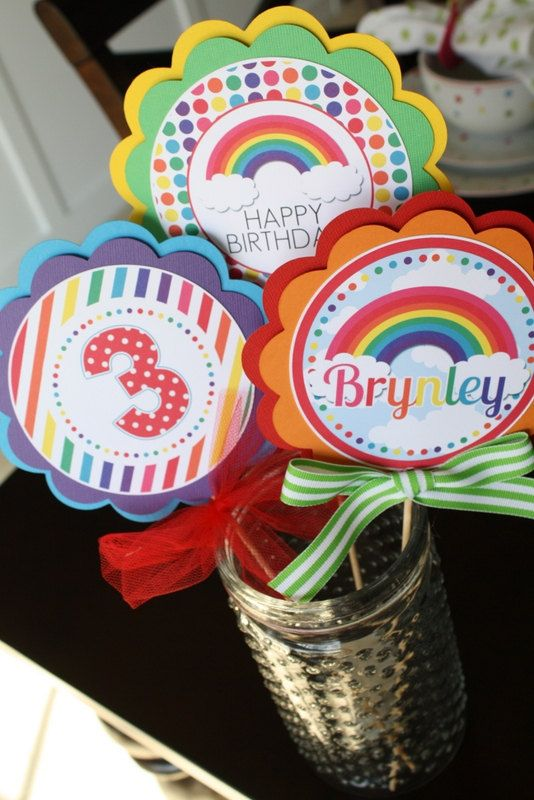 Hey, I found this really awesome Etsy listing at https://www.etsy.com/listing/118844946/rainbow-centerpiece-sticks-rainbow