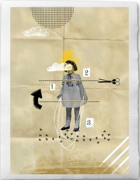 collage and mixed media. Eine Der Guten  Sabrina Tibourtine
