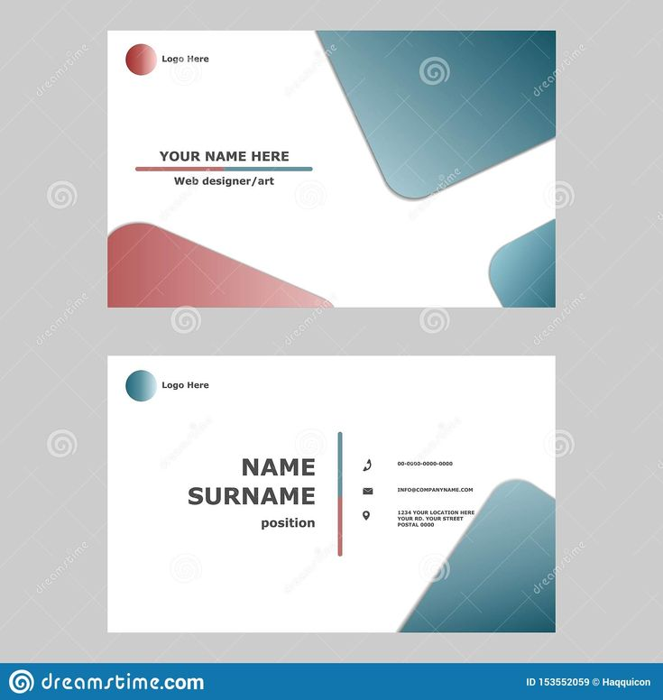 Business Card Template Design Concept Illustration Of Vector With Regard To Professional Name Regue