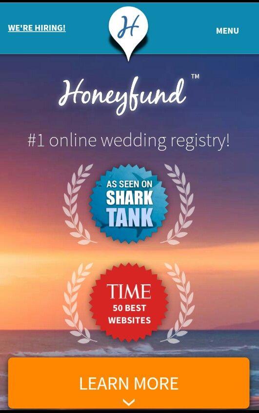 Honeyfund Web Site That Fund Wedding Gift Registry