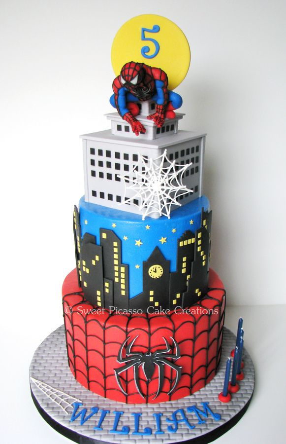 A Spiderman cake for a special little boy: classic ...