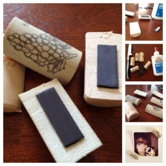 DIY ... Fridge Magnet wine corks
