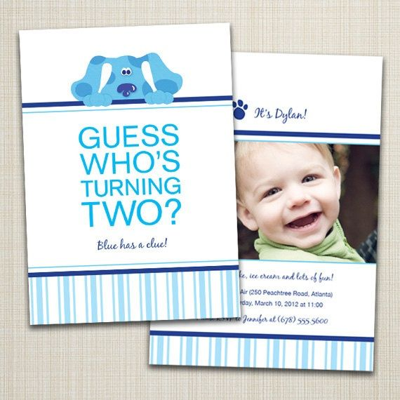 29 best Blues Clues Party images – Blues Clues Birthday Card