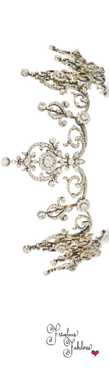 Frivolous Fabulous - Diamond Tiara 1900 Sothebys Frivolous Fabulous Just Married