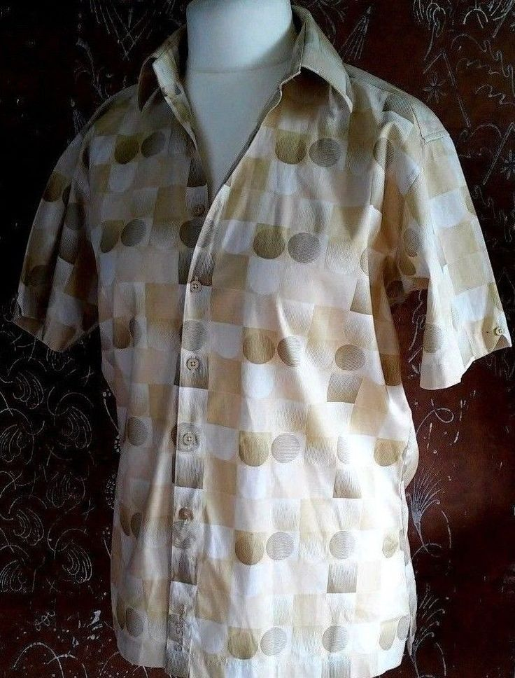 Ben Sherman Men's short-sleeved beige Casual Shirt M #BenSherman #ButtonFront