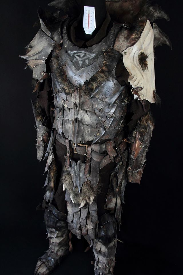 Ork leather armor/set leather armor by ArtesulCuoio on Etsy