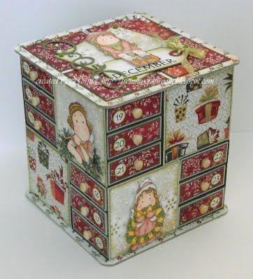 Aus meinem Bastelraum: Adventskalender-Box – Holiday- Christmas