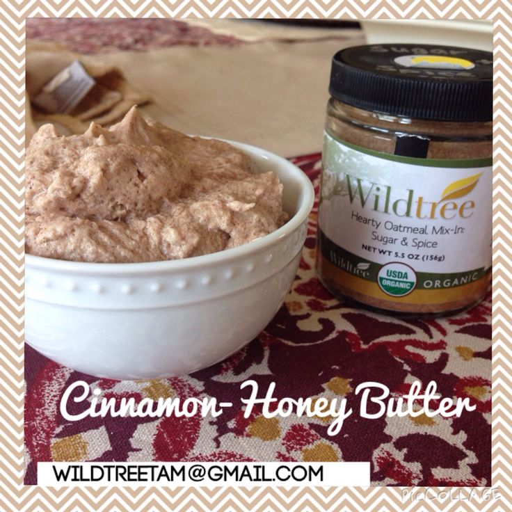 Wildtree Hearty oatmeal Mix-in Sugar and Spice. Flavored butter. Honey cinnamon butter. Wildtree. Texas roadhouse butter. Half cup butter, 2 teaspoons seasoning, half cup confectionery sugar.