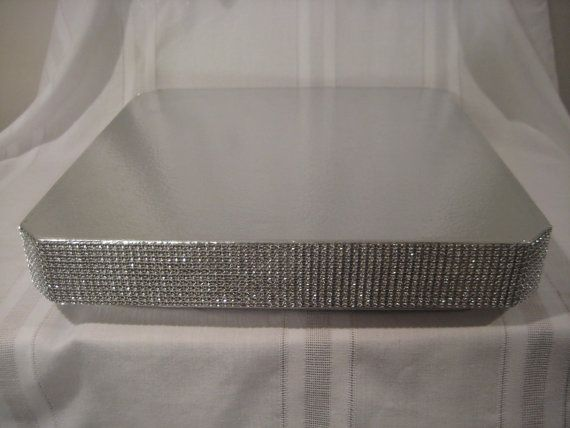 Hey, I found this really awesome Etsy listing at https://www.etsy.com/listing/177464304/bling-wedding-cake-stand-16-inch-square