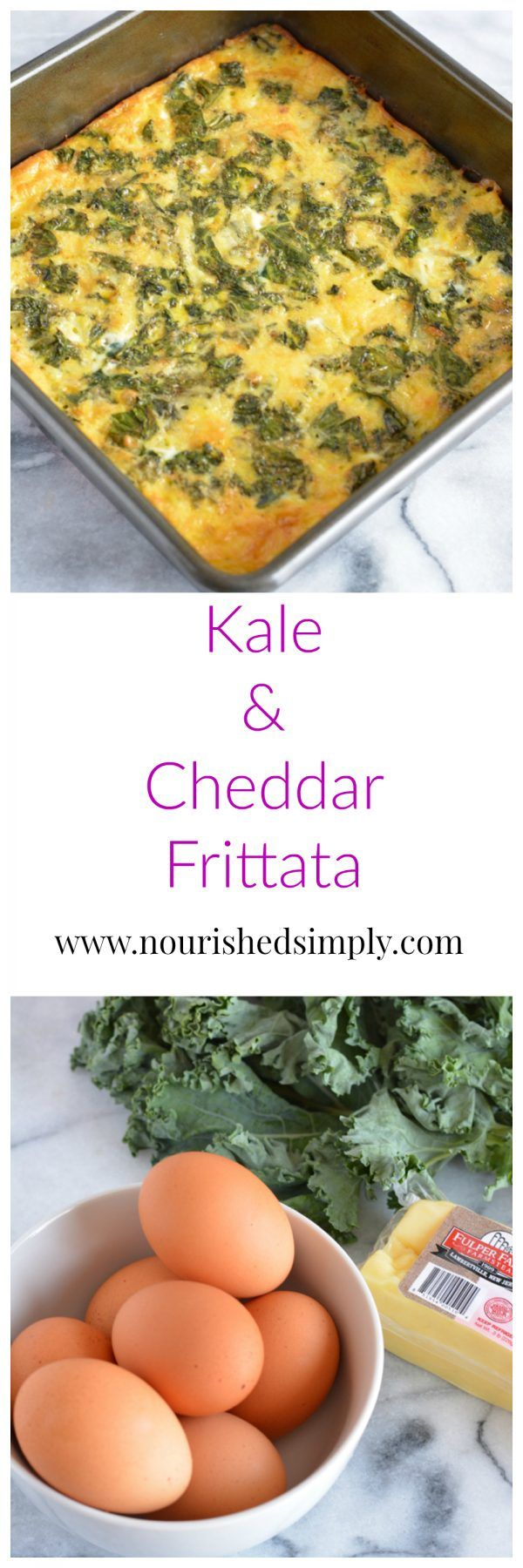 Kale and Cheddar Frittata ready in under 30 minutes is low in carbs and rich in protein. The recipe is also vegetarian and gluten free.