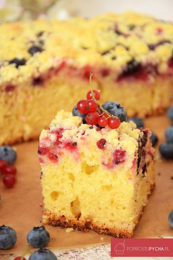 proste ciasto zowocami ikruszonką