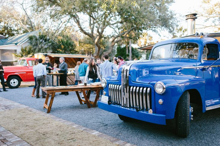 Coastal crust a mobile eatery antique cars food truck