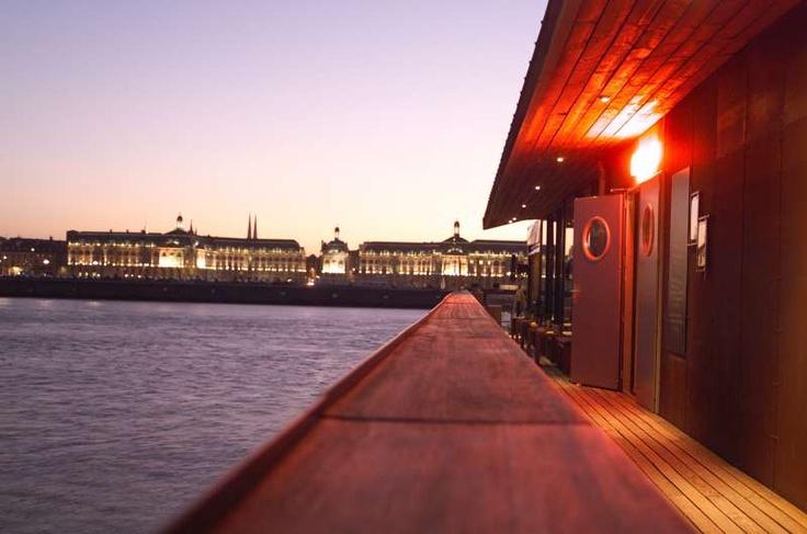 Un de nos partenaires: L'Estacade in Bordeaux France is a delicious restaurant with a perfect view. A must try!