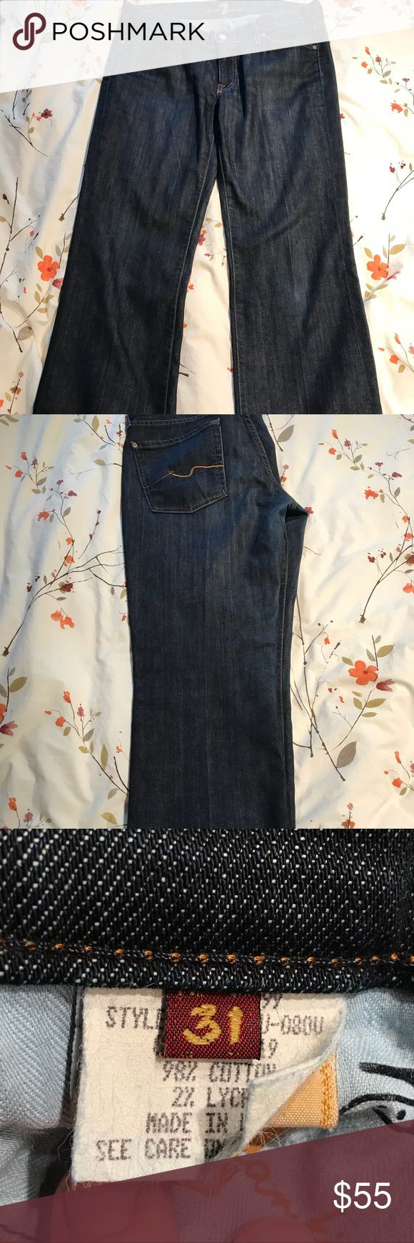 7 For All Mankind Women's jeans👖 Women's dark blue, boot cut jeans. In good condition. 7 For All Mankind Jeans Boot Cut