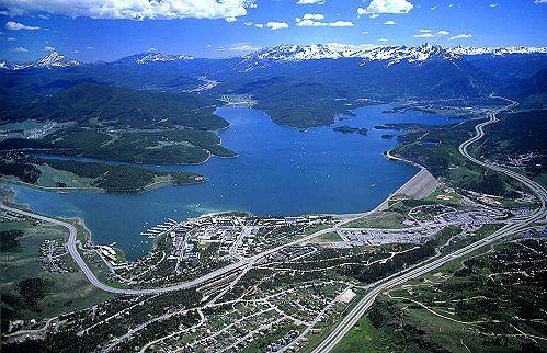 dillon colorado    Aerial photo of Lake Dillon, Dillon, Colorado, CO United States