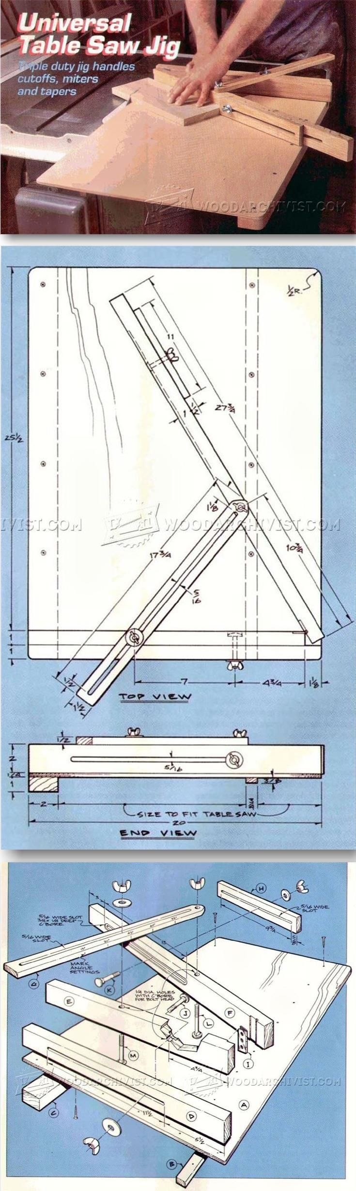 Crosscut Sled Plans - Table Saw Tips, Jigs and Fixtures | WoodArchivist.com