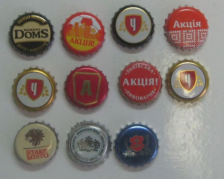 Bottle crown caps beer from Ukraine