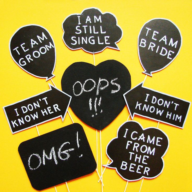 """Photo booth Props (I think that one prop is suppose to say """"I came for the beer""""....still funny)"""