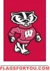 "Wisconsin Badgers Garden Window Flag 15"" x 10.5"""