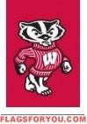 """Wisconsin Badgers Garden Window Flag 15"""" x 10.5"""""""