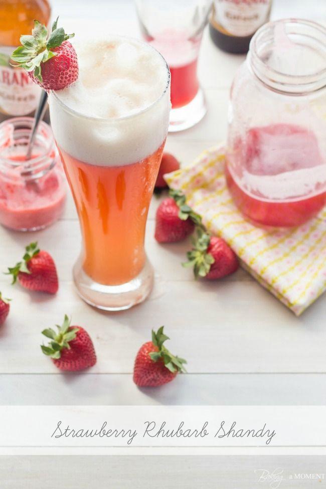 Strawberry Rhubarb Shandy