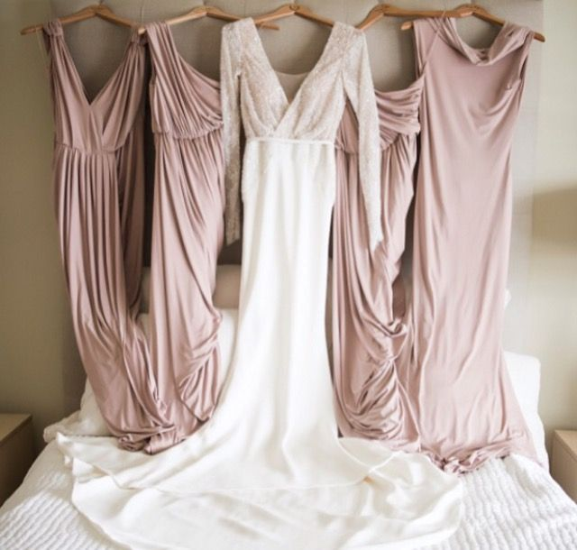 Stunning! Rosy Latte Perfection. This amazing set up was created by one of our beautiful brides. Bridesmaids in Pia Gladys Perey. Nora and Elle Bridesmaids.