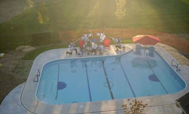 Hockey pool! And in the winter it will freeze over and become a hockey rink!!!