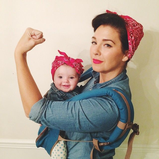 Pin for Later: 42 Adorable Halloween Costumes For Baby-Wearing Parents Rosie the Riveter