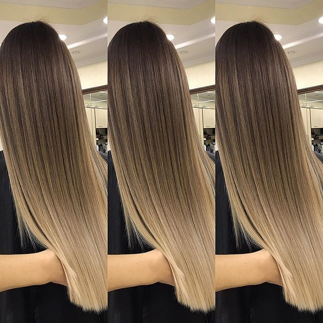 Straight hair Ombre, balayage
