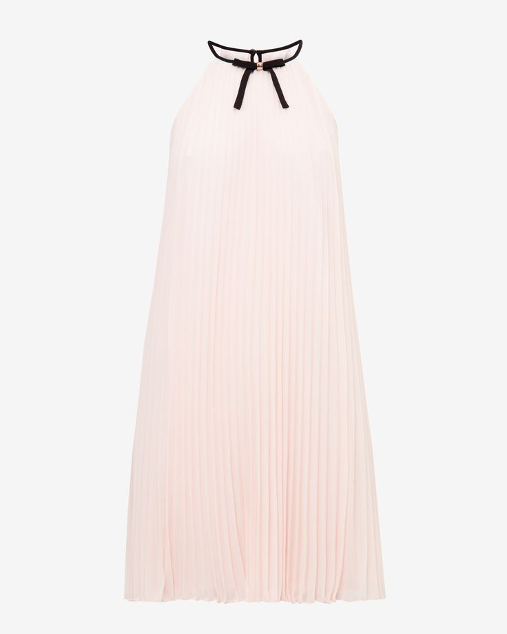 Bow detail pleated dress - Baby Pink | Dresses | Ted Baker UK