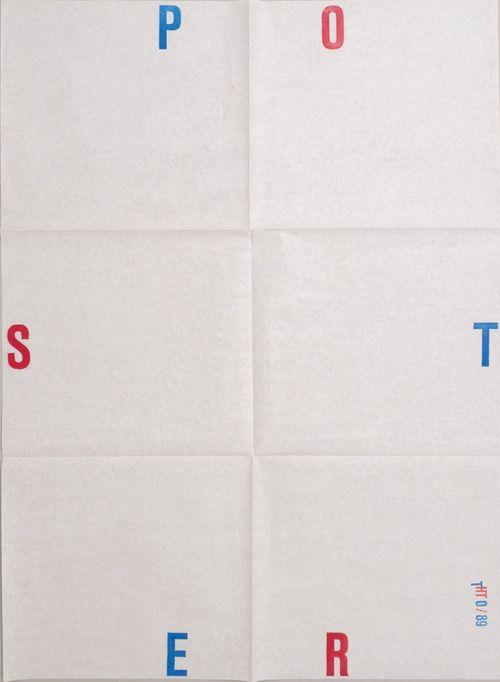 Karel Martens Untitled , 1989 Letterpress poster on paper 19 ½  x 27 ½ in. 495 x 698 mm