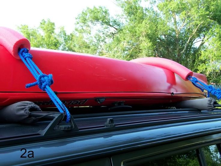 How to use pool noodles to secure a kayak