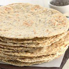 Chia pan plano en forma de semillas: King Arthur Flour