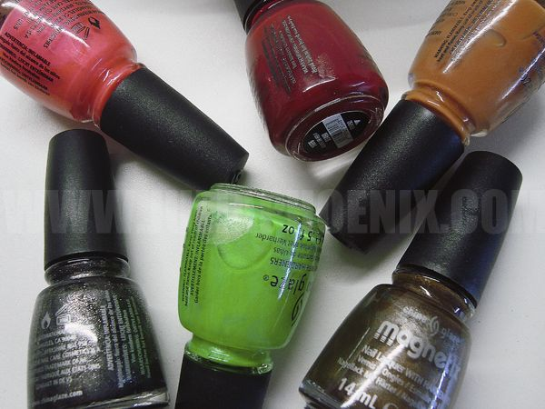 Últimas colecciones de China Glaze ~ Magnetix, Summer Neons y On Safari ~