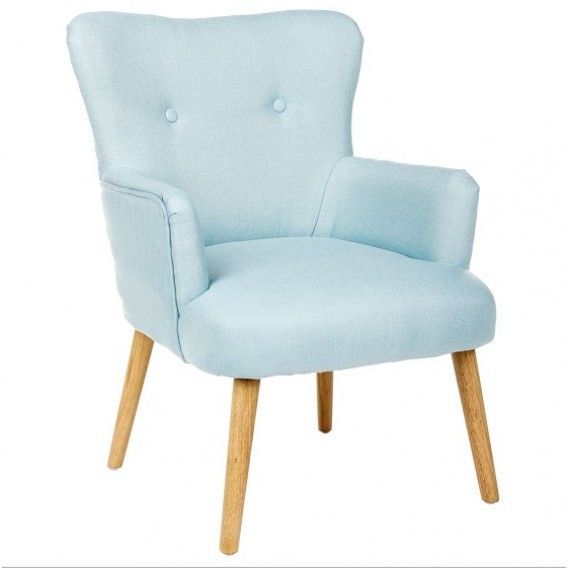 Great fauteuil design scandinave bleu mitt lcm with - Chaise copacabana ...