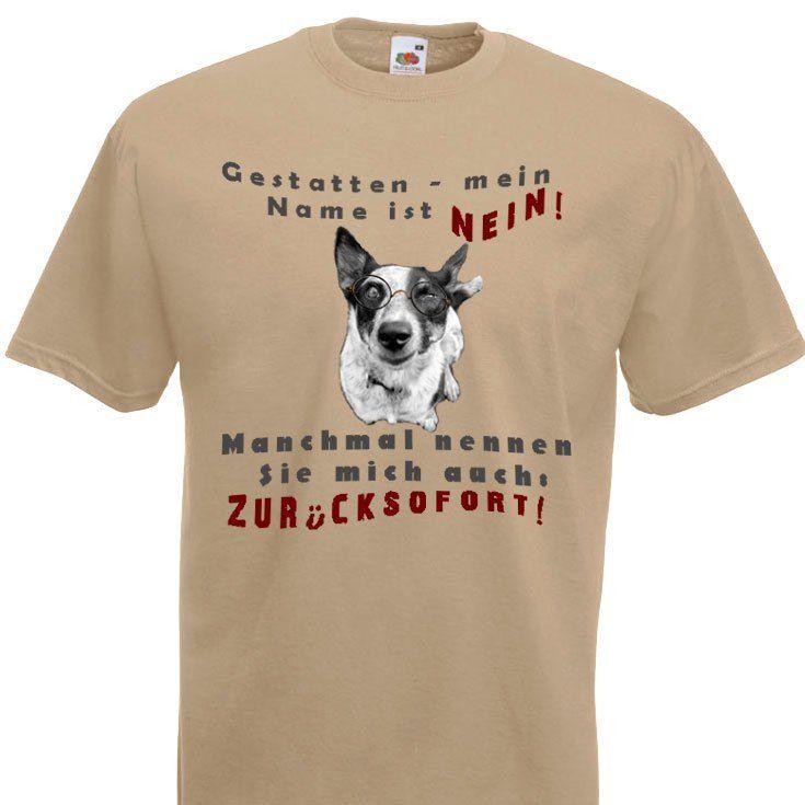 Hunde T-Shirt Meine Name ist Nein