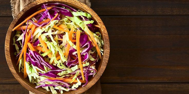 Adding cabbage to your diet can help improve your digestive health! Try this easy recipe for Crunchy Romaine Salad that makes a perfect side dish or stand alone salad. View the full recipe by Samantha O'Toole, RD, here: https://vivantehealth.com/crunchy-romaine-salad/#Recipe #Recipes #Diet #Cabbage #SideDish #Salad #SaladRecipe  #HealthyRecipe #Health #Healthy #DigestiveHealth #GutHealth #HealthyGut  #EatHealthy #LiveHealthy #Wellness #RD