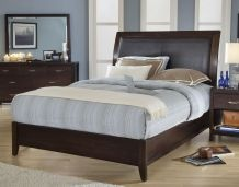 @Overstock - This Urban loft king-size sleigh bed features a chocolate upholtestery headboard and chocolate brown wood. The tropical mahogany solid wood construction of this bed ensures lasting beauty.http://www.overstock.com/Home-Garden/Urban-Loft-Low-Profile-King-size-Sleigh-Bed/5162739/product.html?CID=214117 $641.99